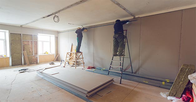 Burton Construction & Management Inc drywall installation